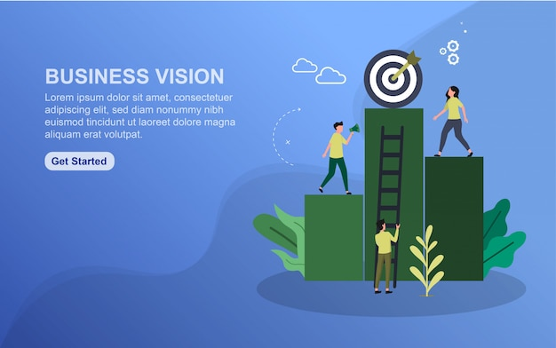 Szablon strony docelowej wizji biznesowej.