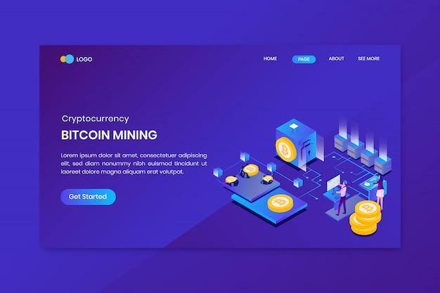 Szablon strony docelowej wydobycia bitcoin