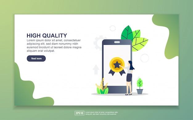 Szablon strony docelowej wysokiej jakości. nowoczesna koncepcja płaskiego projektowania stron internetowych dla stron internetowych i mobilnych.