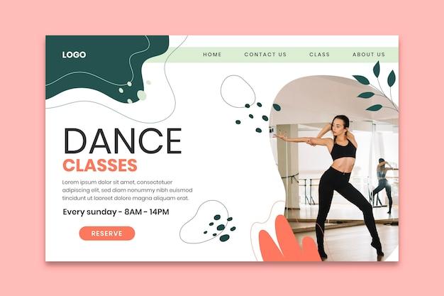 Szablon strony docelowej zajęć tanecznych