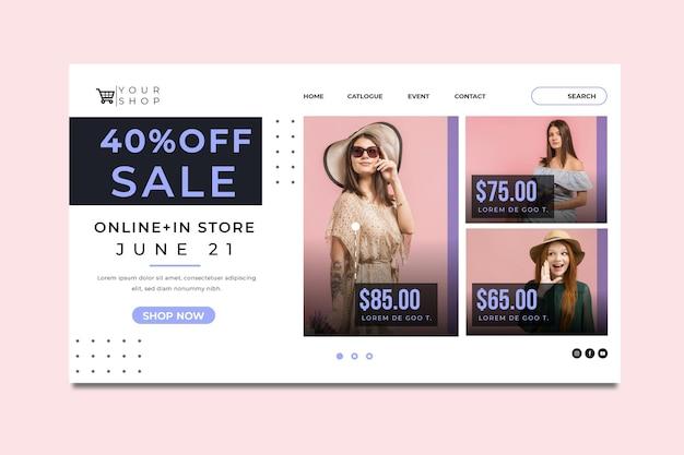 Szablon strony docelowej zakupów i sprzedaży online