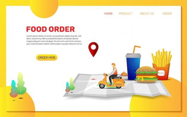 Szablon strony docelowej zamówienia dostawy żywności