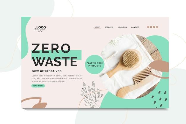 Szablon strony docelowej zero waste