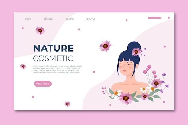 Szablon strony głównej kosmetyki natury