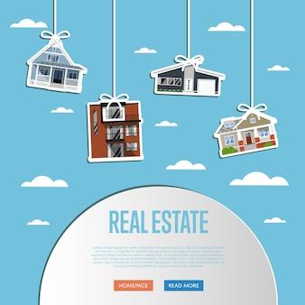 Szablon strony internetowej agencji nieruchomości