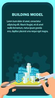 Szablon strony internetowej baner budynku modelu.