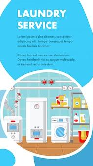 Szablon strony internetowej baner usługi pralni.