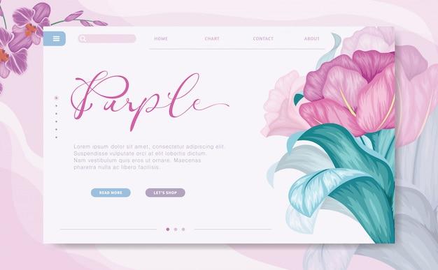 Szablon strony internetowej branding nowoczesny design