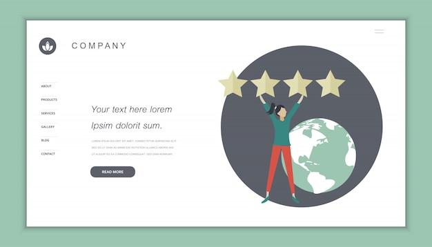 Szablon strony internetowej oceny klienta