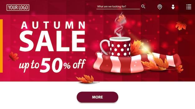 Szablon strony internetowej sprzedaż jesień