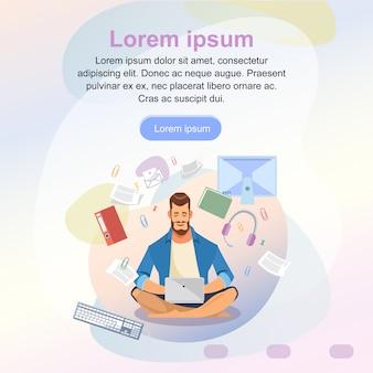 Szablon strony internetowej usługi online do nauki na odległość