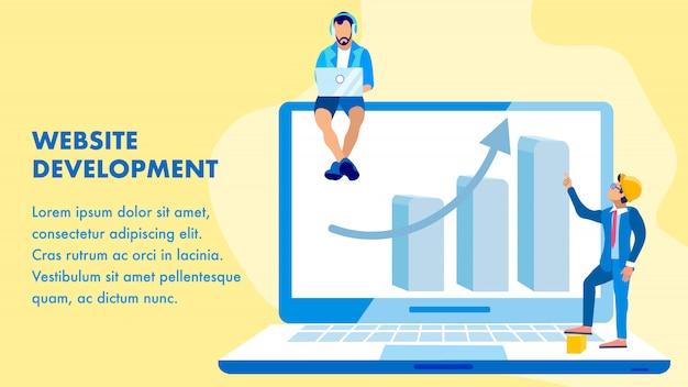 Szablon strony internetowej usługi rozwoju wektor szablon transparent