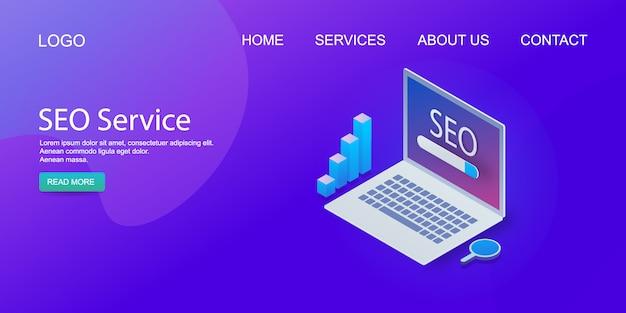 Szablon strony internetowej usługi seo