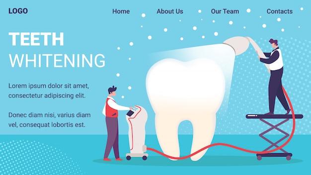 Szablon strony internetowej usługi wybielania zębów