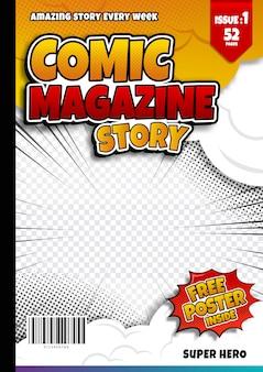 Szablon strony komiksu