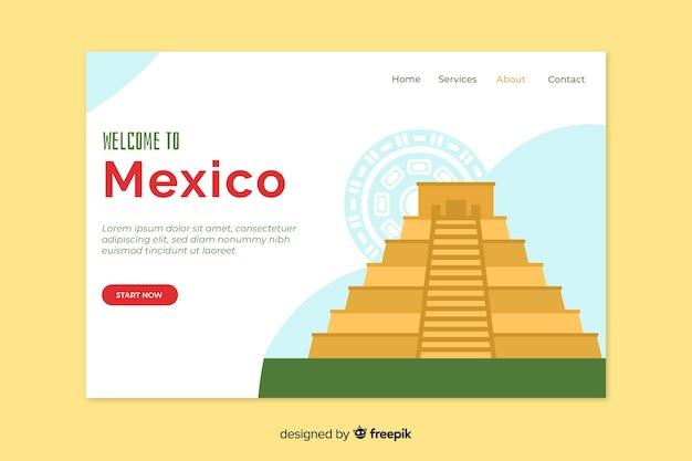 Szablon strony korporacyjnej strony docelowej dla biura podróży w meksyku