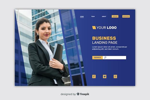 Szablon strony korporacyjnej strony docelowej dla firm lub agencji
