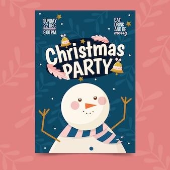 Szablon strony świąteczne plakat w płaska konstrukcja