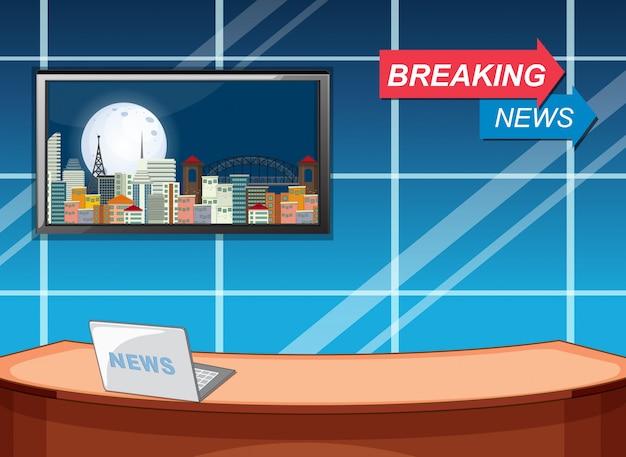 Szablon studio breaking news