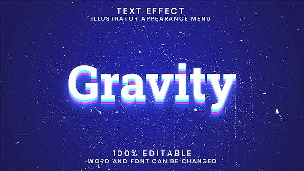 Szablon stylu edytowalnego efektu grawitacji świecącego tekstu
