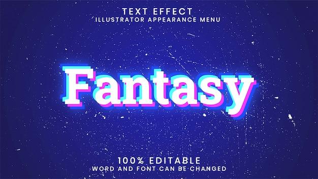 Szablon stylu edytowalnego tekstu świecącego efektu fantasy