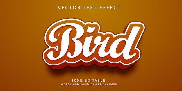 Szablon stylu efektów tekstowych dla ptaków