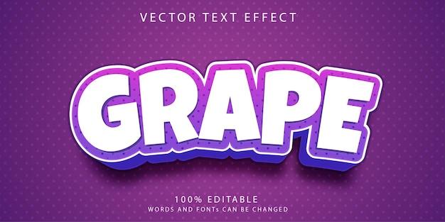 Szablon stylu efektów tekstowych winogron