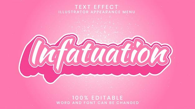 Szablon stylu efektu edytowalnego tekstu zauroczenia