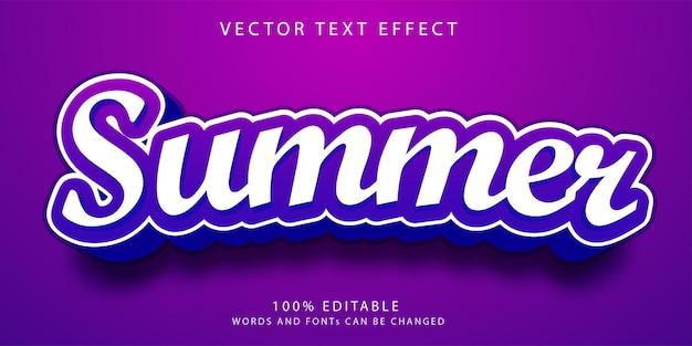 Szablon stylu letnich efektów tekstowych