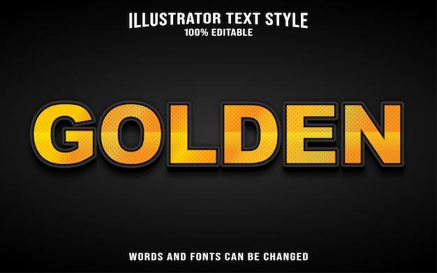 Szablon stylu tekstu czcionki - złoty