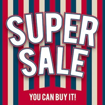Szablon super sprzedaży w stylu amerykańskim