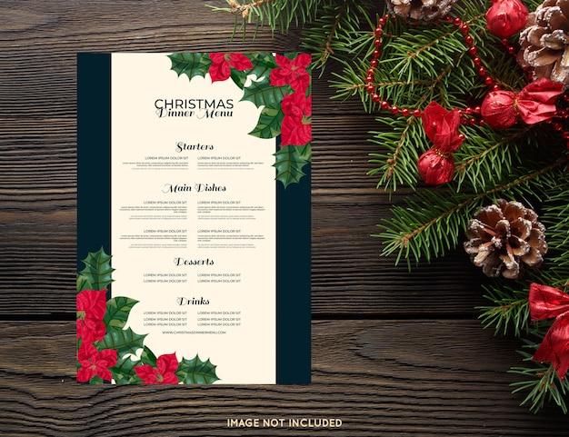 Szablon świątecznego menu