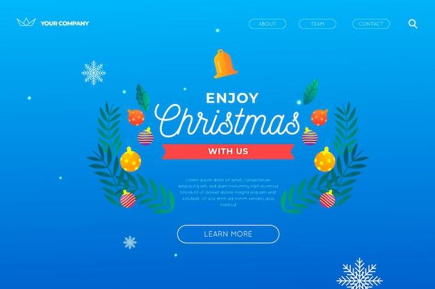 Szablon świątecznej strony docelowej
