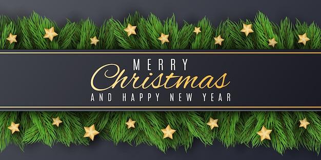 Szablon świąteczny dla wesołych świąt i szczęśliwego nowego roku