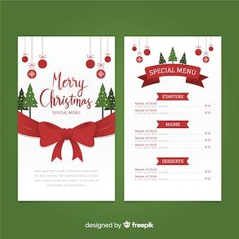 Szablon świąteczny duży łuk menu
