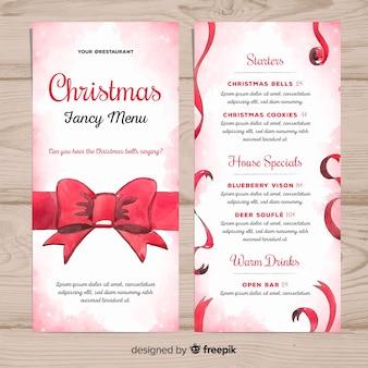 Szablon świąteczny fantazyjny menu