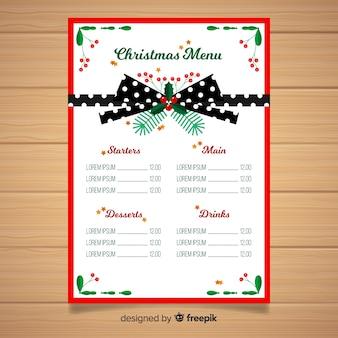 Szablon świąteczny menu