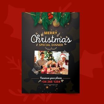Szablon świąteczny Plakat świąteczny Darmowych Wektorów