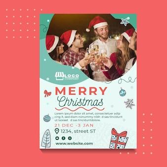 Szablon świąteczny plakat świąteczny