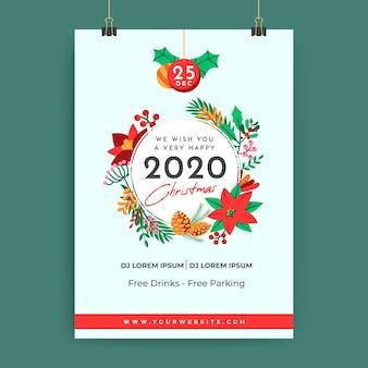 Szablon świąteczny plakat