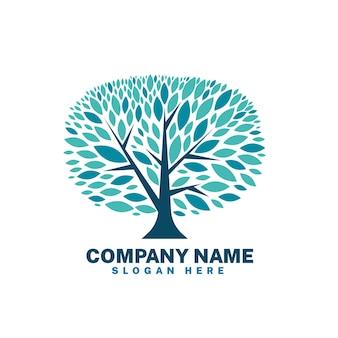 Szablon symbolu logo drzewo życia firmy