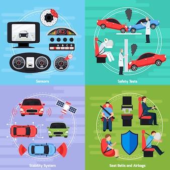 Szablon systemów bezpieczeństwa samochodów