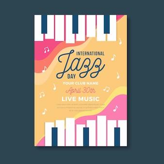 Szablon szablonu międzynarodowego dnia jazzu plakat