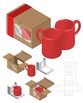 Szablon szablonu wycinany w pudełku.