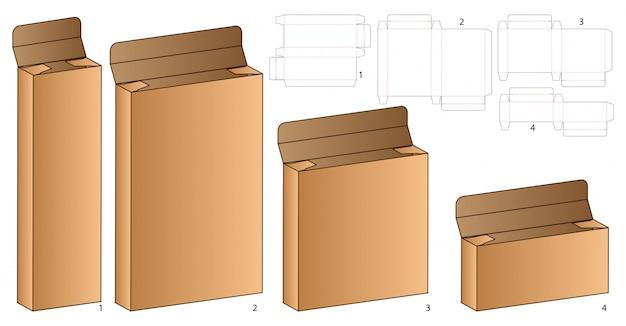 Szablon szablonu wycinany z pudełka