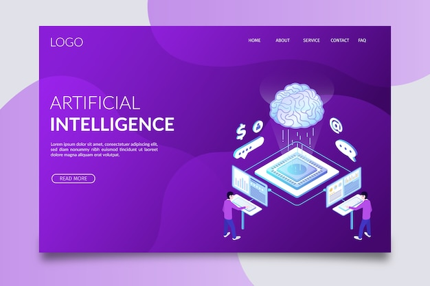 Szablon sztucznej inteligencji strony docelowej