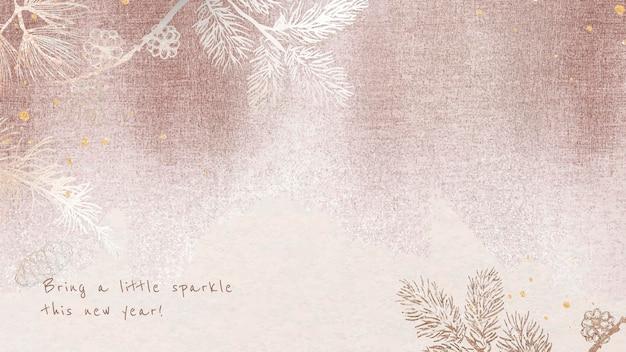 Szablon tapety na pulpit, edytowalne pozdrowienia, świąteczny wektor projektu