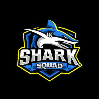 Szablon tarczy maskotka gier rekina esport