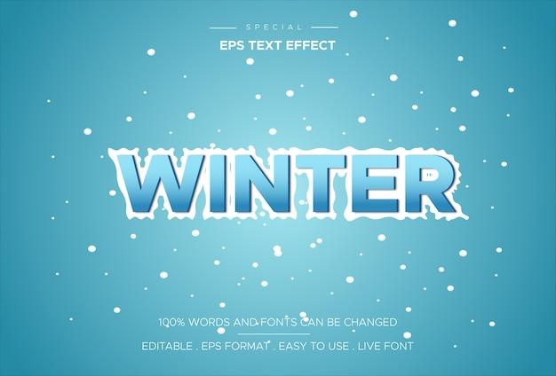 Szablon tekstowy efekt zimowy