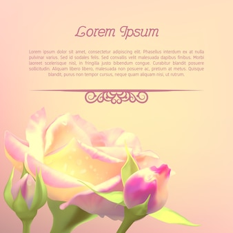 Szablon tekstu z różą